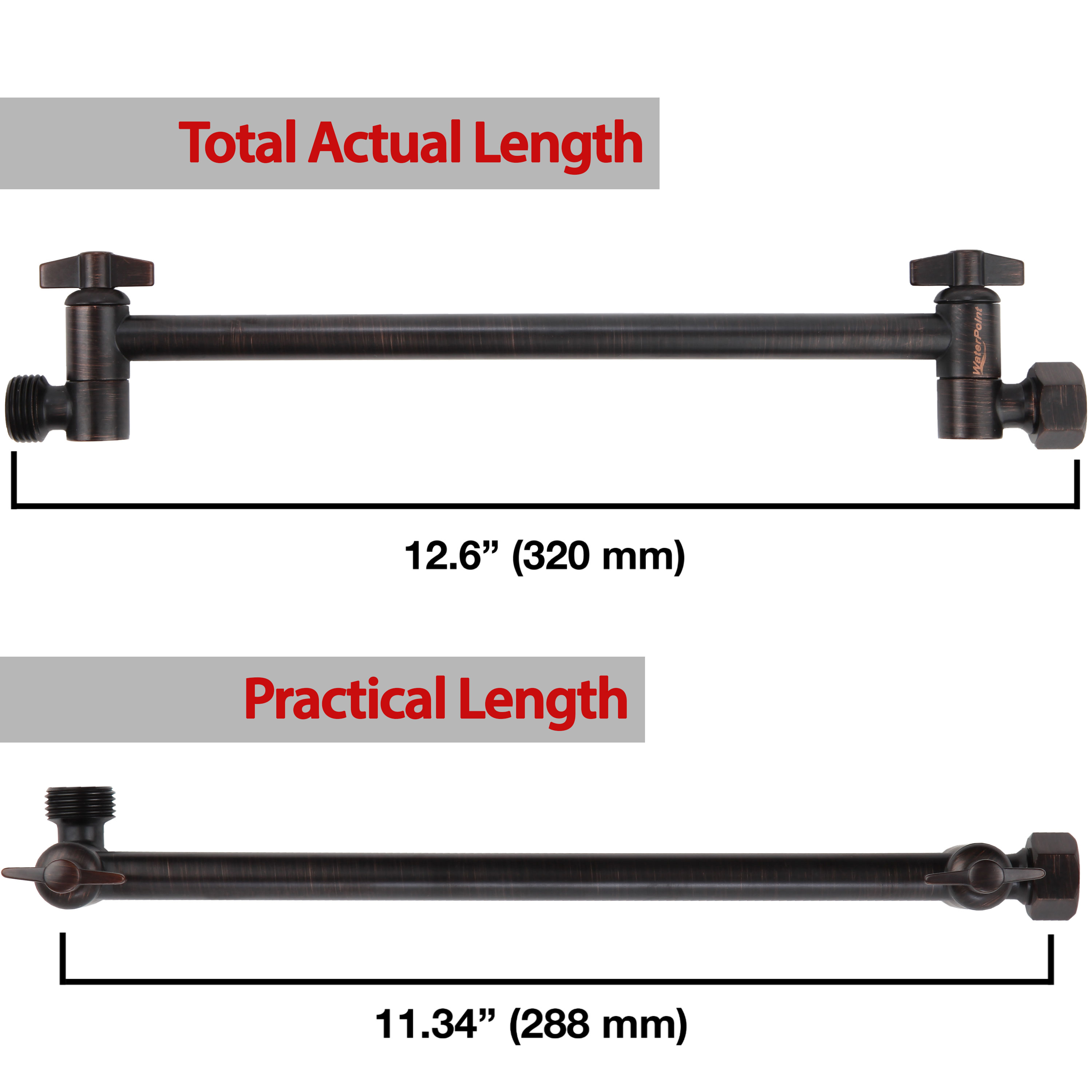 Adjustable Shower Arm 11 Inch Oil Rubbed Bronze Finish